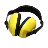 Yellow ABS Headband Ear Muff for Eye Protection Snr 27db