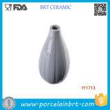Elegant and Dencent Ashen Ceramic Vase Flower Home Decor