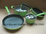 Kitchenware 6PCS Aluminum Non-Stick Coating Cookware Set