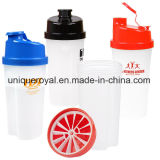 20 Oz Plastic Fitness Protein Shaker with Measurements
