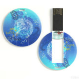 Round Shape Mini Card USB Flash Memory with 2GB Capacity