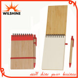 Spiral Hardcover Notebook with Bamboo Pen for School Stationery (BNB374)