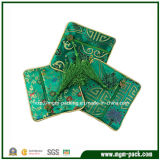 China Classical Green Fabric Jewelry Bag with Zipper