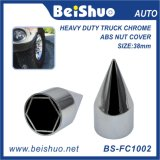 38mm ABS Chrome Hexagon Wheel Lug Nut Cover Dust-Free Cap
