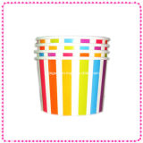 Rainbow Color 16oz Biodegradable Ice Cream Paper Cup (IC-16oz)