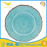 Malaysia Durable Melamine Green Plastic Names Dinner Plate Ware Wholesale