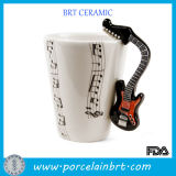 Guitar Handle Coffee Cup Ceramic