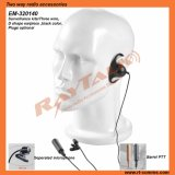 Two Way Radio D Shape Earpiece 3 Wire Surveillance Kits