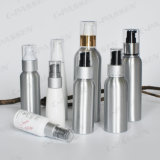Aluminum Cosmetic Bottle with Lotion and Spray Pump (PPC-ACB-043)