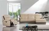 Genuine Leather Chaise Leather Sofa Electric Recliner Sofa (751)