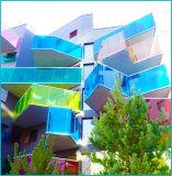 Colored PVB Laminated Glass Railing / Fences on Escalator / Balcony / Staircase
