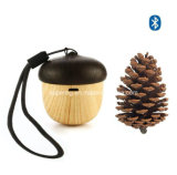 USB Rechargeable Mini Nut Shaped Wood Grain Wireless Bluetooth Speaker