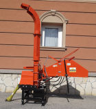 Pto Driven Wood Chipper Th-8, 8'' Diameter, Two Hydraulic Feeding Rollers, 3point Hitch, Ce Approval