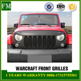 ABS Mesh Black Front Bumper Grille for Jeep Wrangler 2007-2017