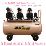 3X1400W Portable Silent Oil Free High Pressure Air Compressor