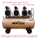 3X1400W Portable Silent Oil Free High Pressure Screw Air Compressor