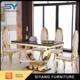 Wholesale Home Furniture Marble Top Gold Dining Table