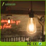 St64 Dimmable Warm White 2W 4W 6W 8W Edison LED Filament Bulb Light