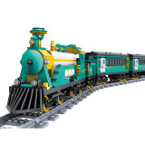14898102-Battery Powered Electric Steam Container Train Building Block Toy Christmas Gift