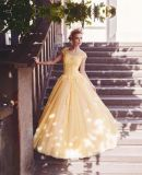 Cap Sleeves Party Gowns Lace Prom Evening Dresses E17924