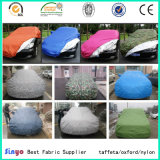 Silver coated pu coated taffeta fabric for car covers