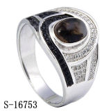 Fashion Jewelry 925 Silver Mirco Pave Setting CZ Men Rings