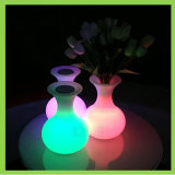 Wireless Colorful Night Light Flower Vase Battery Powered LED Vase Lamp