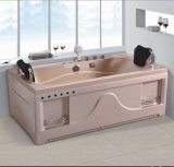 1700mm Rectangle Jacuzzi with Ce and RoHS in Pink for Lady (AT-0777-1)