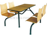 Wholesale 4 Seats School Canteen Table and Chair Set (NK-DTE343)