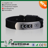 Fashion Hematite Stone Silicone Bracelet with 4in1 Energy (CP-JS-CZ-002)
