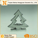 Christmas Tree Shaped Ceramic Candle Holder for Home Decoration