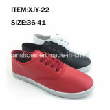 Comfortable Women Casual Footwear Injection Canvas Shoes Customized (FFXJY-22)