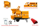 Pully Manufacture 800L Hopper Capacity for Village, Road, Bridge Tunnel Construction Trailer Concrete Pump with Mixer