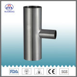 Sanitary Stainless Steel Pipe Fitting: Short Type Welded & Clamped Tee with Asme Bpe