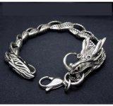 Stainless Steel Men Dragon Curb Chain Bracelets Body Jewelry