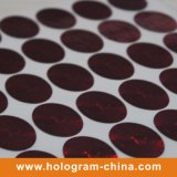 Round Holographic Rainbow Color Laser Label Sticker