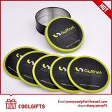 New Round Customized Metal Cup Coaster Set for Promotional Gift