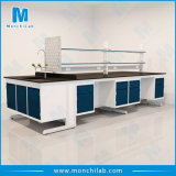 All Steel Suspension Type Chemical Lab Island Bench