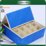 Square Blue Folding Adjustable Storage Box with Cover