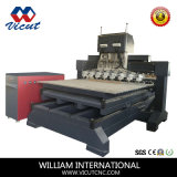 8 Heads Rotary Woodworking CNC Cutting Machine (VCT-TM2515FR-8H)