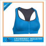 Custom Yoga Wear Women Sports Bra with Front Zip Closure