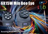6PCS 15W 4in1 RGBW LED Beam Moving Head