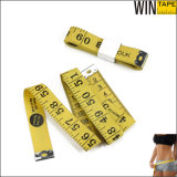 PVC Fiberglass Fabric Promotional Gift Yellow Tape Measure (FT-057)
