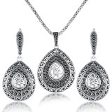 High Quality Antique Retro 18K Gold Jewellery Accessories Necklace Set