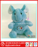 Funny Cute Soft Elephant Toy with Clock Embroidered