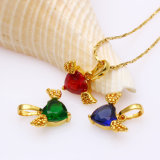 31608 Fashion Elegant Women Gold-Plated Jewelry Pendant with Synthetic CZ