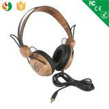New Economic Wood Headphone Earphone for Computer