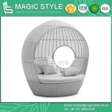 Wicker Sunbed Rattan Daybed Leisure Sofa Bench Sofa Chaise Sofa Outdoor Furniture Garden Furniture Patio Furniture (Magic Style)