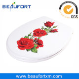 HD Inkjet Rose UF Soft Close Toilet Seat