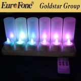 LED Rechargeable 12 Pieces Candle for Decoration